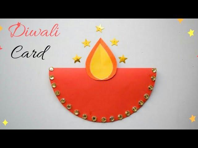 diy diwalicard  handmade easy diwali card  diy diwali
